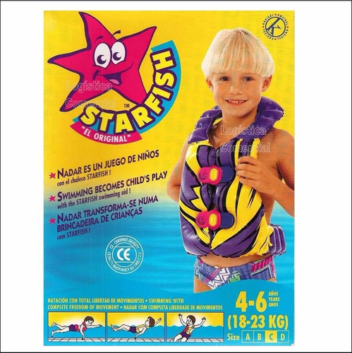 chaleco c flotador niños 4 a 6 años piscina playa comodo