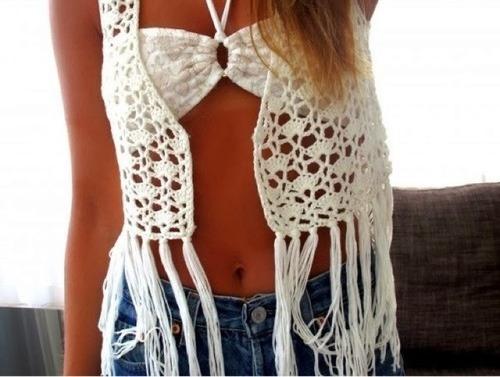 chaleco calado crochet verano playa