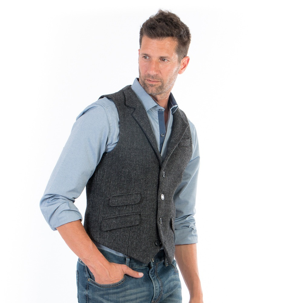 Chaleco Casual De Hombre Color Gris Oxford -   559.00 en Mercado Libre 16da908a969
