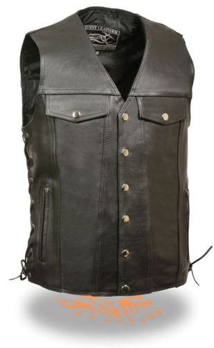 chaleco c/bolsillo vaquero milwaukee leather event hombre xl