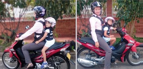chaleco cinturon clasico seguridad niños moto