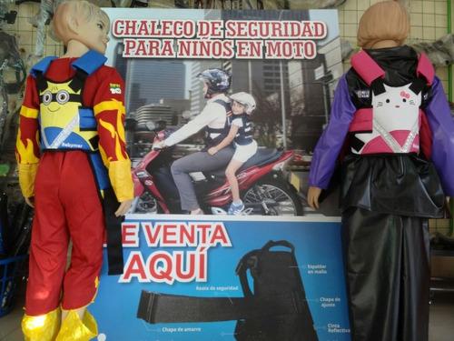 chaleco cinturon plus seguridad niños moto