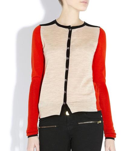 chaleco color block 100% lana merino bastyan m corte slim