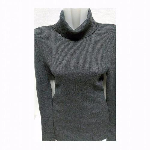 chaleco con cuello gap original mujer talla m gris cod 0021