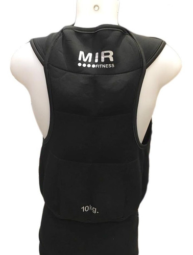 chaleco con sobrecarga de 10 kg mir musculacion resistencia