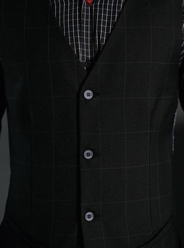 chaleco cuadrado gris galo bertin