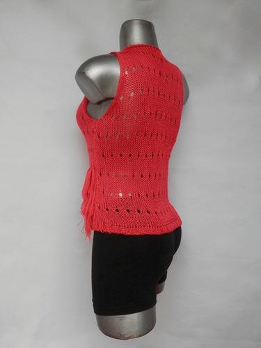 chaleco dama con flecos diseño inusual y muy elegante único