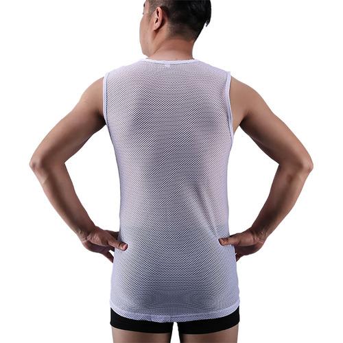 chaleco de ciclismo verano blanco hombres - xl