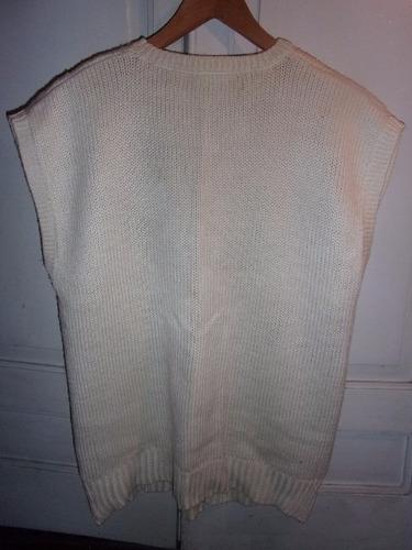 chaleco de dama, escote a la base, 100% algodón  talle l