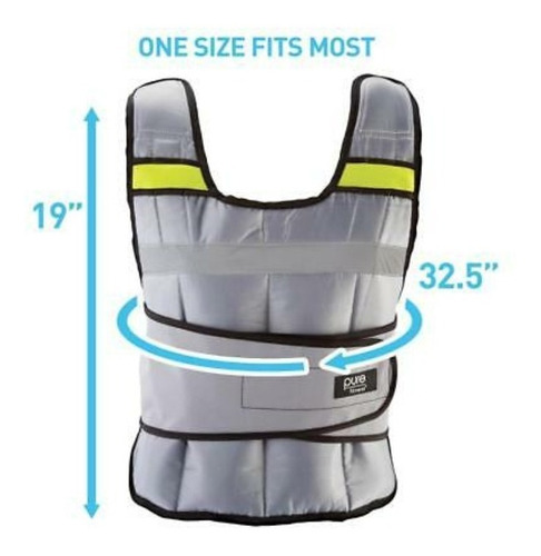 chaleco de entrenamiento pure fitness 20libras