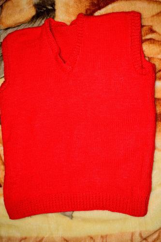 chaleco de lana artesanal - oferta por inicio de temporada!!