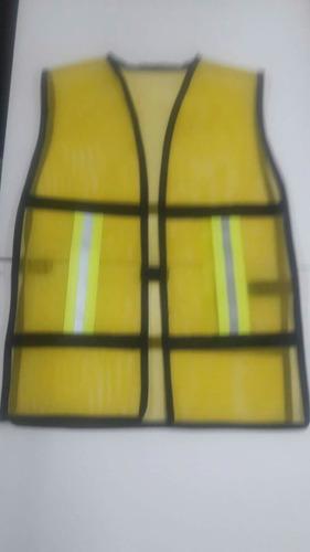 chaleco de malla con reflejantes en colores difs