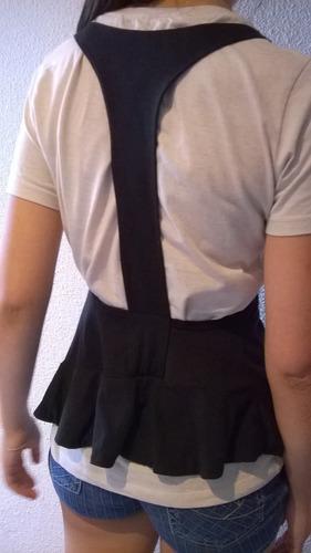 chaleco de modal. talle s. negro. original diseño.