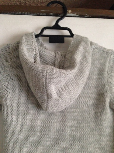 chaleco de niña color gris talla 6