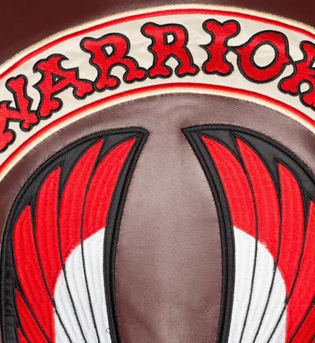 chaleco de piel heron estilo warriors corte sport