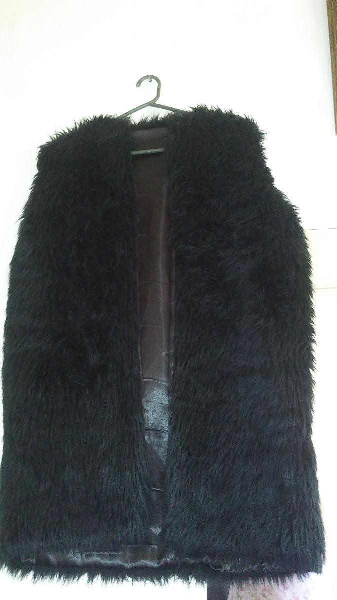 chaleco de piel. sintetica negro abrigo peludo pelos kosiuko. Cargando zoom. 50d663ee64b0