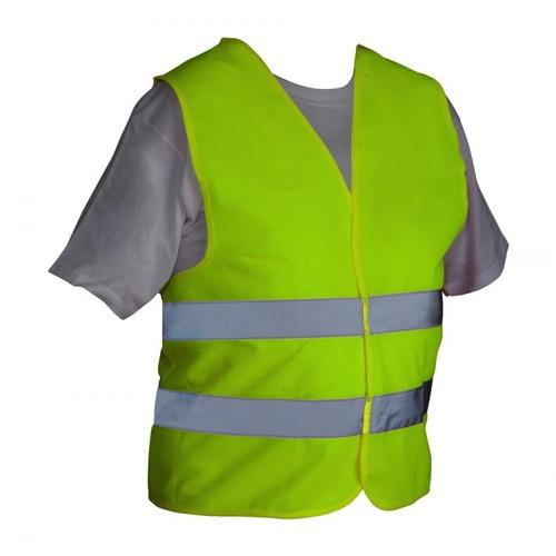 chaleco de seguridad amarillo en poliéster eq-chama silver
