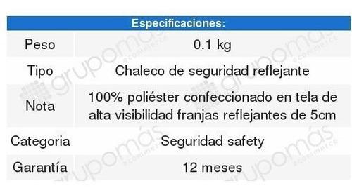chaleco de seguridad reflejante mikels