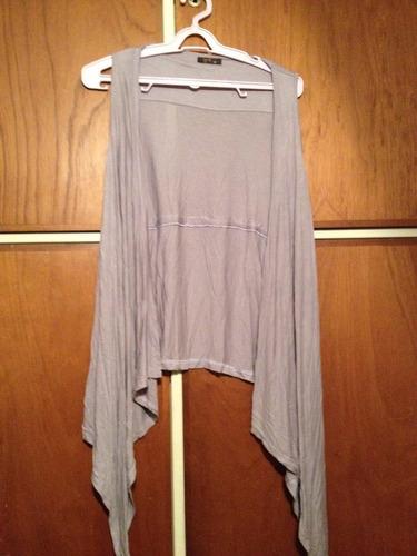 chaleco estilo kimono color lavanda - talle único