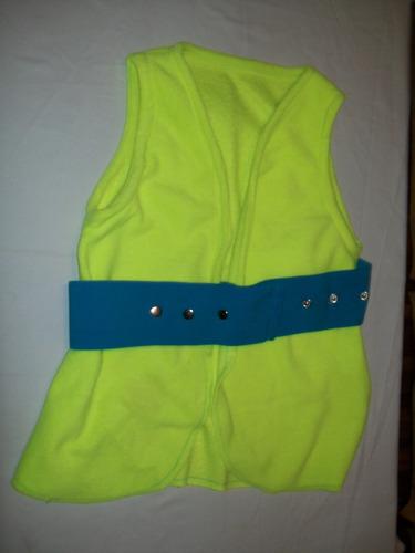 chaleco flúo de dama con elástico ancho regulable talle m
