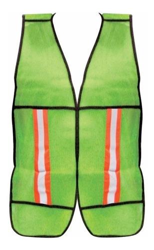 chaleco fluorescente naranja o verde c/reflejante  dermacare