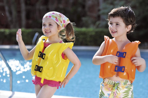 chaleco inflable flotador niños pileta jilong babymovil