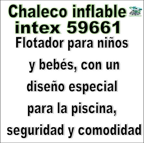 chaleco inflable para la seguridad de tus niños intex 59661