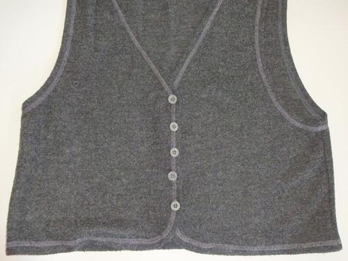 chaleco kill sin mangas de lana finita color gris talle m