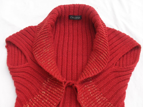 chaleco lana bordó grueso mujer talle s