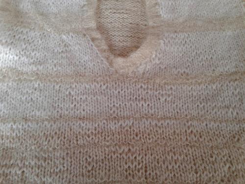 chaleco lana tejido color crema talle m