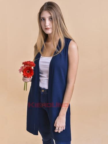 chaleco largo mujer moda primavera verano kierouno