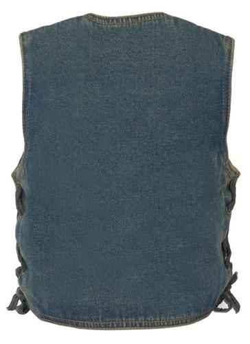chaleco milwaukee cuero niños básico cordón lateral azul lg