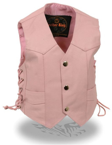 chaleco milwaukee cuero niños básico cordón lateral rosa 2xl