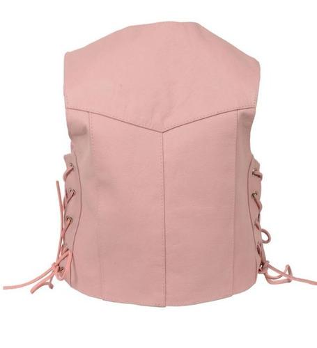 chaleco milwaukee cuero niños básico cordón lateral rosa xl