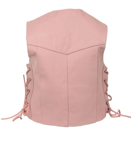 chaleco milwaukee cuero niños básico cordón lateral rosa xs
