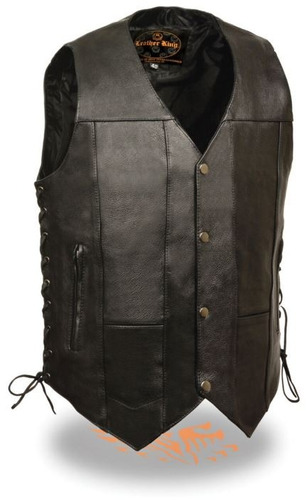 chaleco milwaukee leather p/hombre 10 bolsillos laterales 60