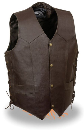 chaleco milwaukee p/hombre c/cuero cordón lateral brown lg