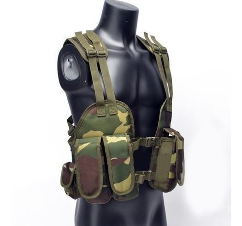 chaleco  modular carga swat asalto táctica jungle camuflage