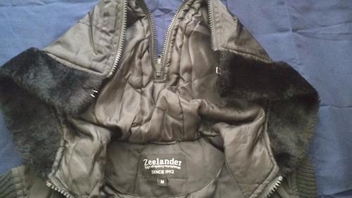 chaleco negro dama marca zeelander envio gratis