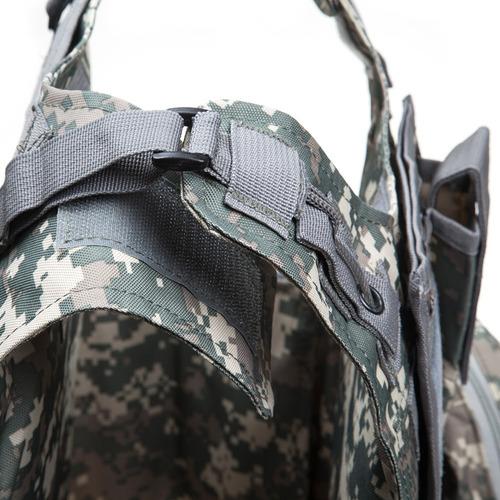 chaleco oxford táctico militar molle portador placa acu cam