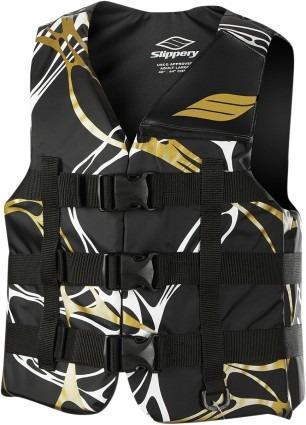 chaleco phoenix nailon negro/dorado xs