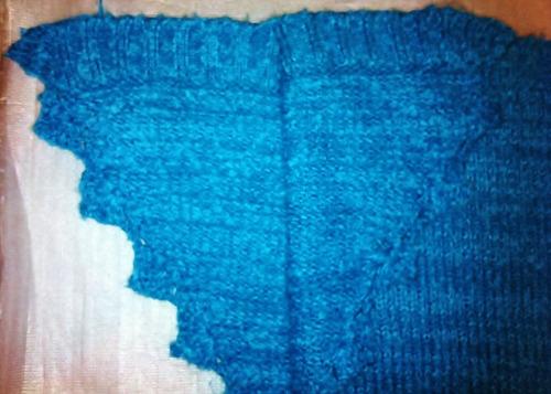 chaleco poncho calipso 100% lana nuevo termina en v
