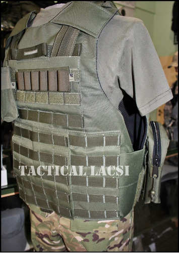 chaleco porta placas molle tactical lacsi