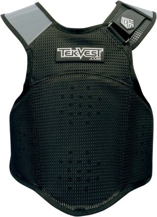 chaleco protector tekvest crossover p/hombre, negro xl