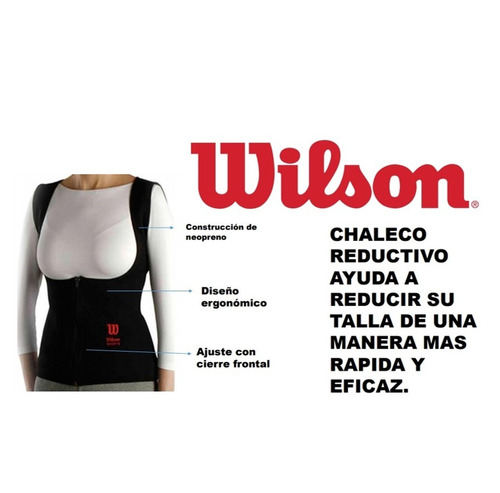 chaleco reductivo wilson de neopreno para mujer con cierre
