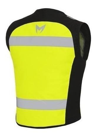 chaleco reflectivo amarillo motorman vision solomototeam