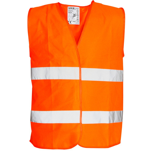 chaleco reflectivo reglamentario para seguridad. naranja.