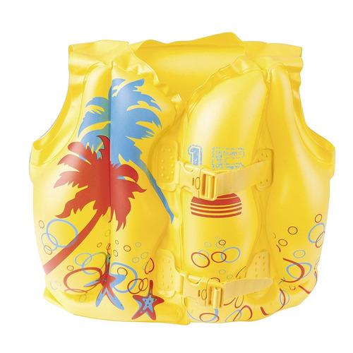 chaleco salvavidas flotador tropical para niños 3 a 6 años