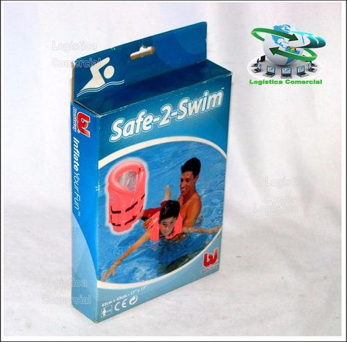 chaleco salvavidas inflable bestway 43x43cm niños piscina