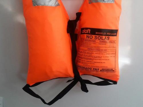 chaleco salvavidas poncho reglamentario pna + silbato reglam